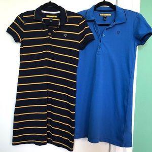 Aeropostale   Lot of 2 Polo T Shirt Dresses